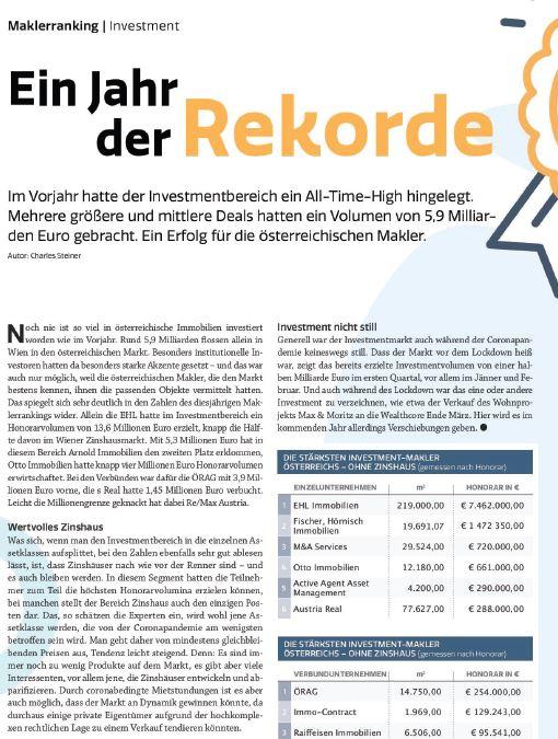 Austria Real GmbH wird zu einem der stärksten Investment-Makler Österreichs
