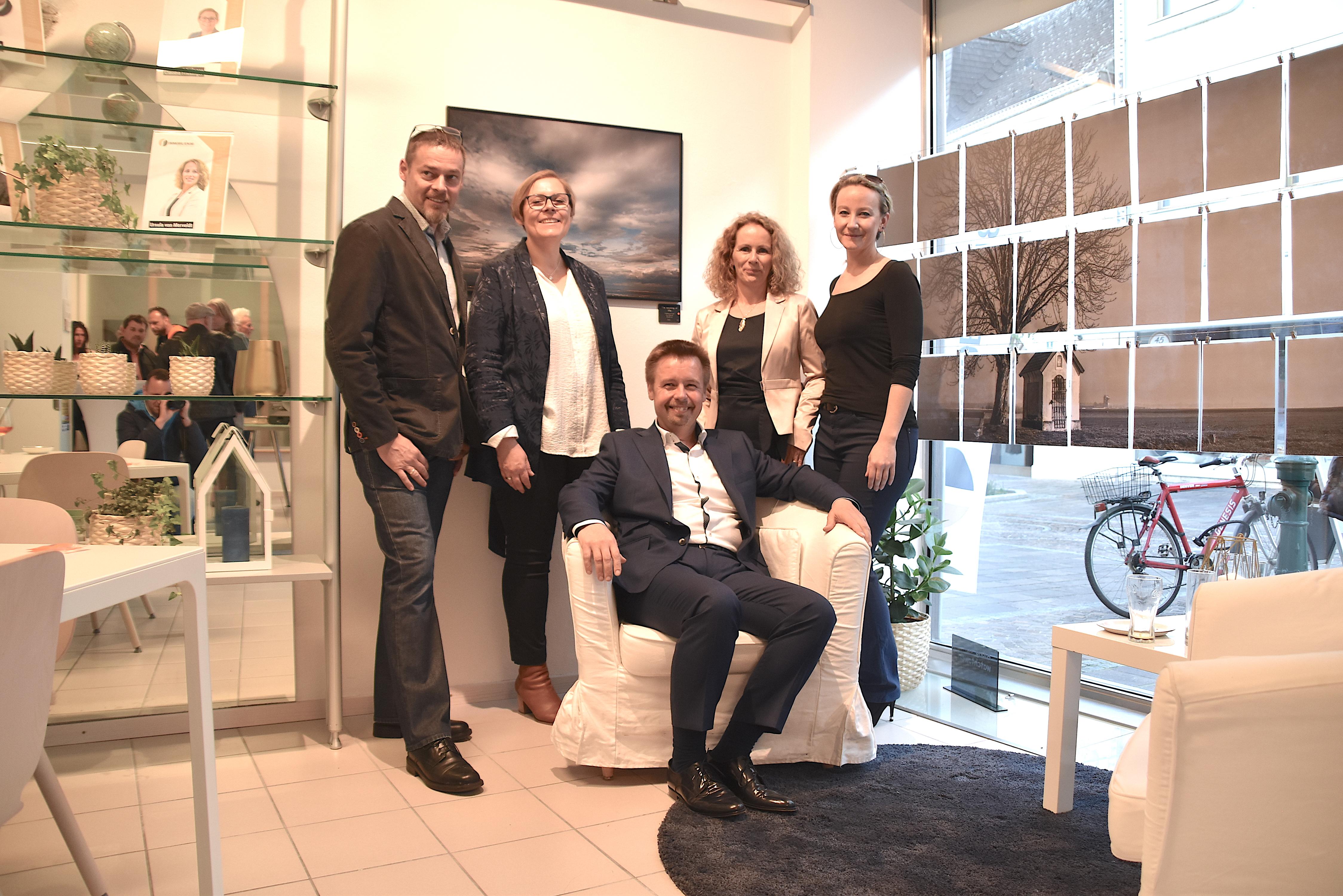 Das Team von Immobilien 86: Martin Schildberger, Claudia Friesinger, Wolfgang Steiner, Ursula von Merveldt, Sabrina Grubmüller